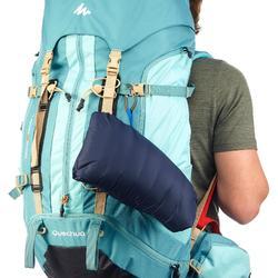 男款登山健行羽絨無袖背心TREK 100-軍藍色