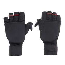 登山健行露指手套Trek 500-黑色