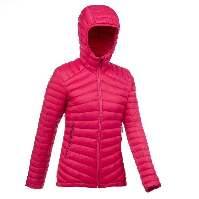Donsjas voor bergtrekking Trek 500 dames roze