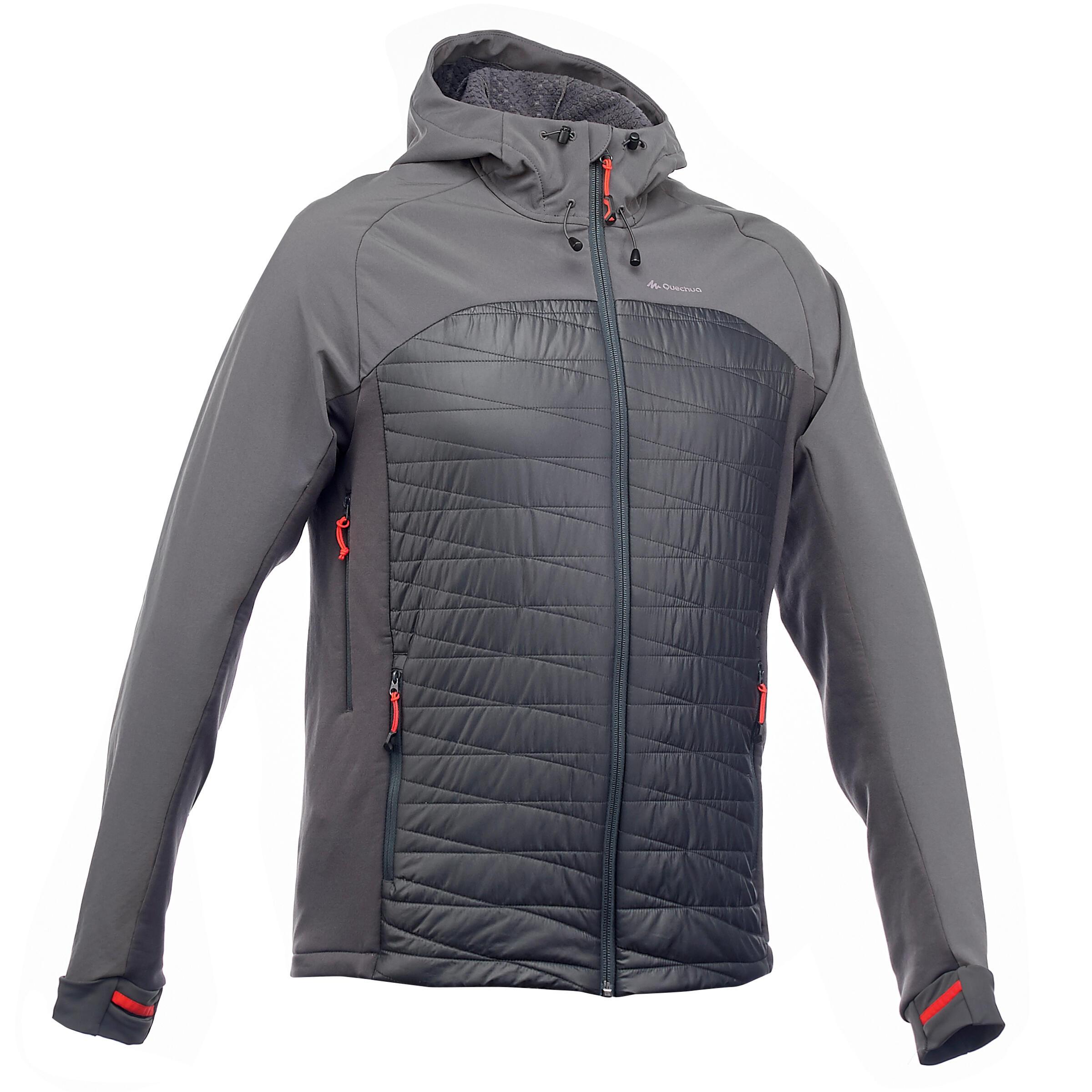 Quechua Heren softshell jas voor bergtrekking Trek 900 hybrid
