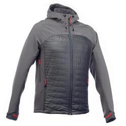 Heren softshell jas voor bergtrekking Trek 900 hybrid grijs