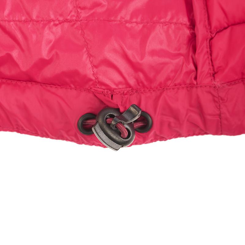 เสื้อแจ็คเก็ตดาวน์สำหรับผู้หญิงใส่เทรคกิ้งบนภูเขารุ่น Trek 100 (สีชมพู)
