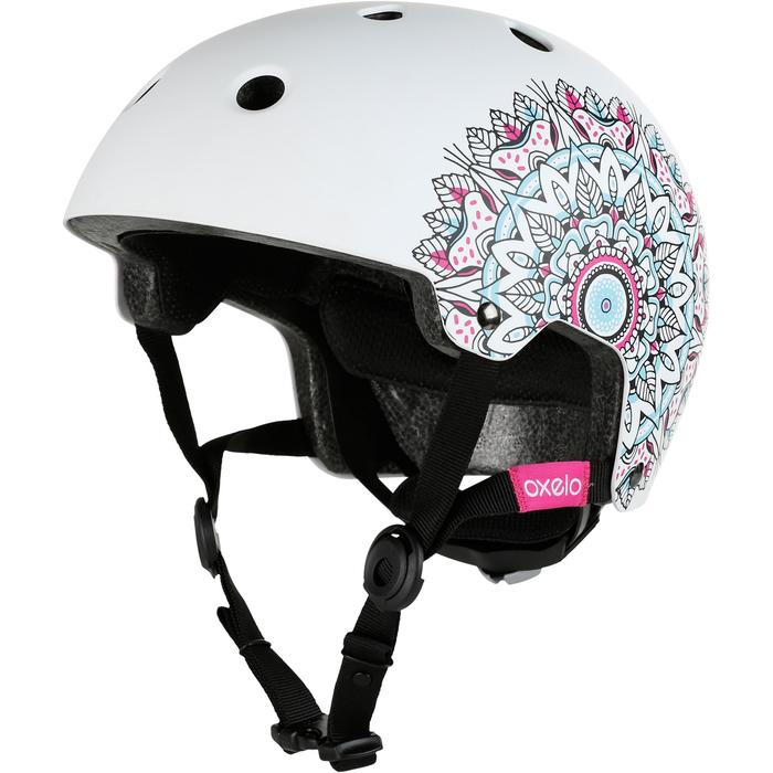 Helm Play 7 voor skeeleren, skateboarden, steppen Mandala wit