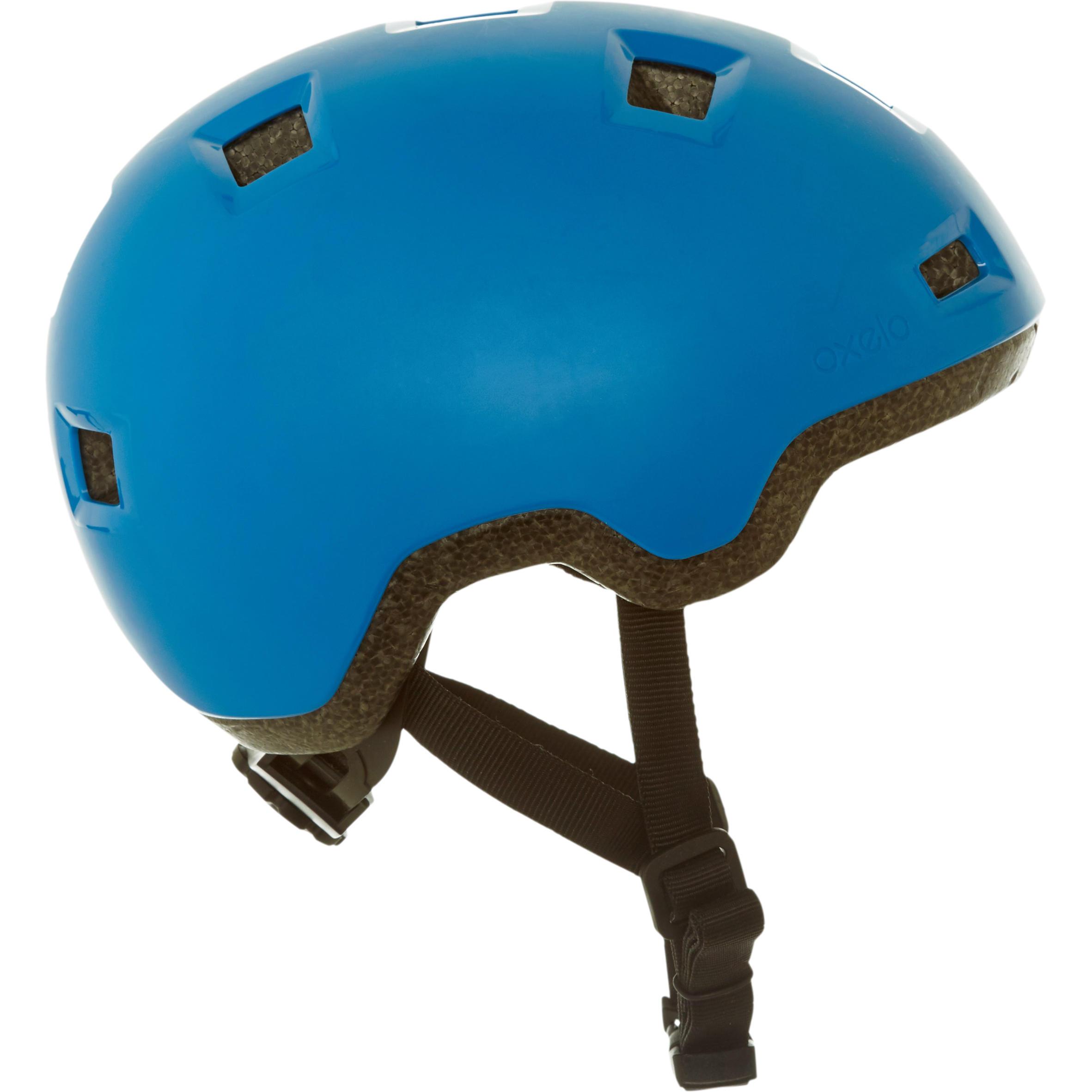 Casque patin à roues alignées, planche à roulettes, trottinette B100 bleu