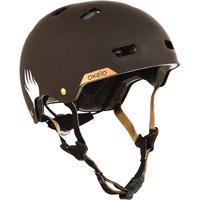 Casque patin à roulettes planche à roulettes trottinette MF540 BAD DAYS noir