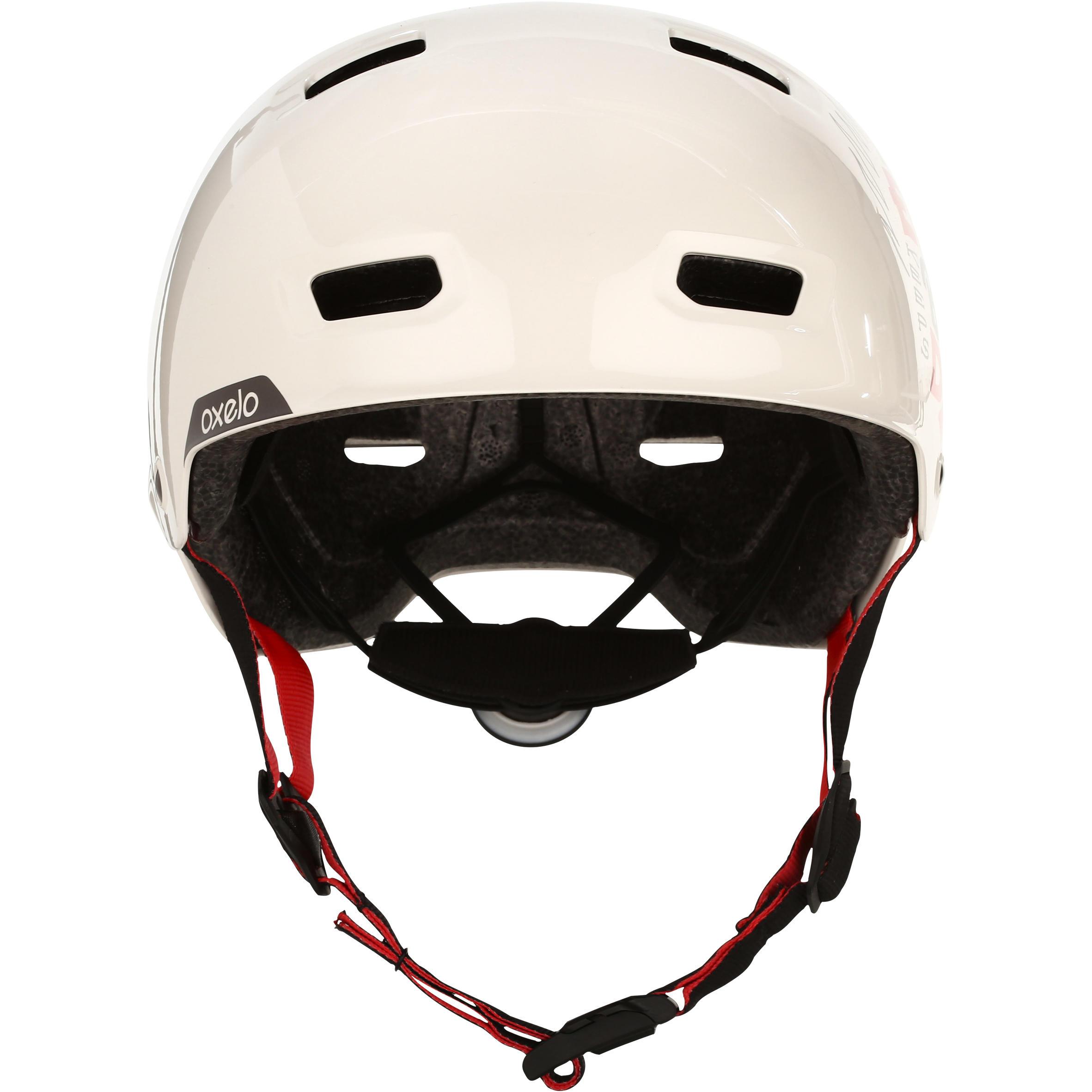 Casque patin roulettes, planche roulettes, trottinette vélo MF540 BAD DAYS crème