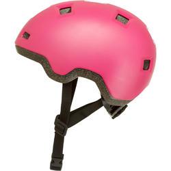 Casque patin à roues alignées, planche à roulettes, trottinette B100 rose