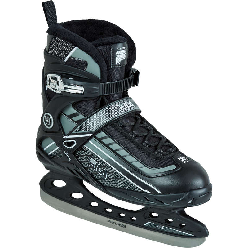 ADULT FITNESS ICE SKATES Ice Skating - Ice Skates - Black/White FILA - Ice Skating