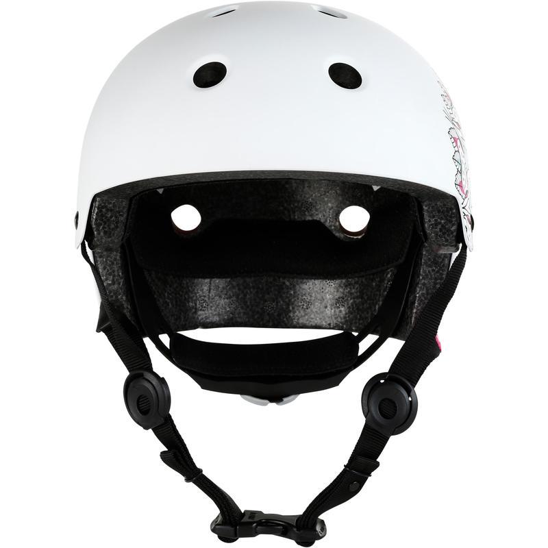 หมวกกันน็อครุ่น Play7 Mandala สำหรับเล่นอินไลน์สเก็ต สเก็ตบอร์ด สกู๊ตเตอร์ (สีขาว)