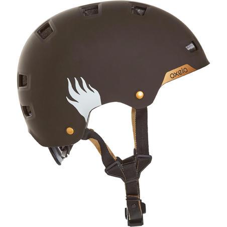Casque patin à roulettes planche à roulettes trottinette MF540 BAD DAYS noir