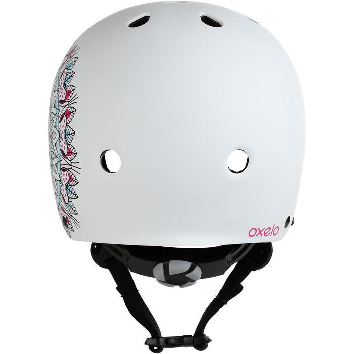 Casco para roller skateboard patinete PLAY7 Mandala blanco