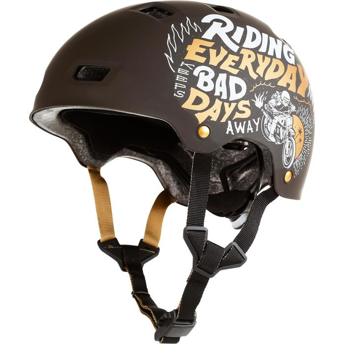 Casque roller skateboard trottinette MF540 BAD DAYS noir