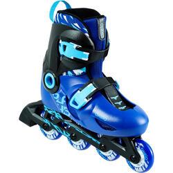 兒童直排輪鞋-藍色/黑色