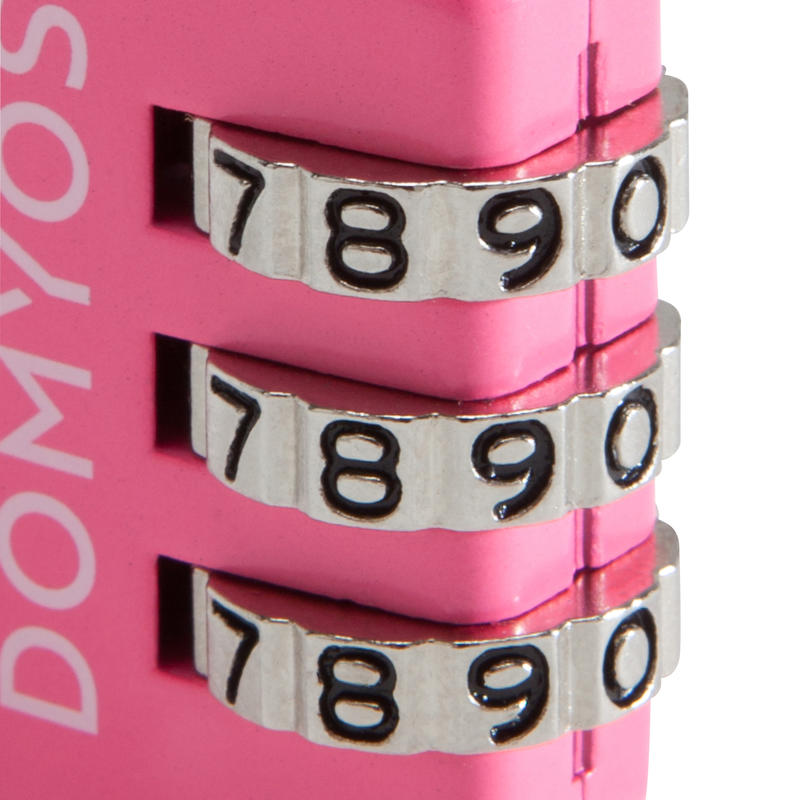 Candado de combinación rosado
