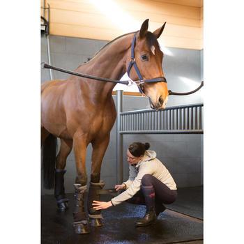 Chaussettes chaudes équitation adulte motif HR gris foncé - 1223859