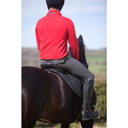 Polo manga larga equitación hombre BLASÓN rojo