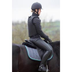 Damesjas voor paardrijden twee materialen Safy zwart