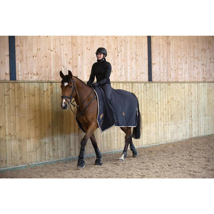Chemise d'écurie équitation poney et cheval POLAR 500 gris foncé - 1223935