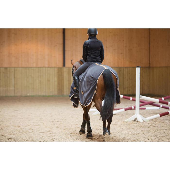 Chemise d'écurie équitation poney et cheval POLAR 500 gris foncé - 1223936