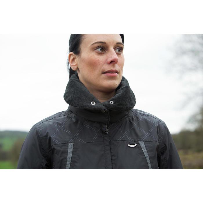 Veste chaude et imperméable femme équitation TOSCA 2 gris foncé/chevron - 1223942