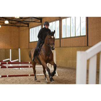 Chaqueta de dos materias equitación equitación SAFY negro