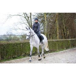 Waterdichte, warme en ademende dames paardrijbroek Kipwarm zwart