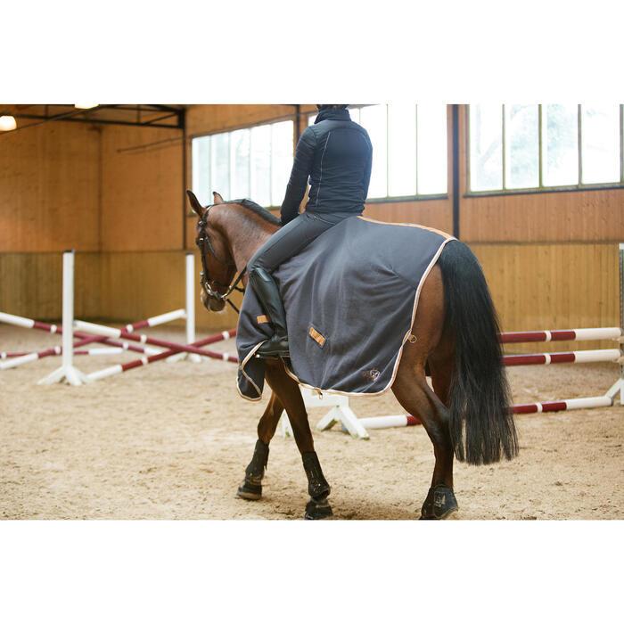 Chemise d'écurie équitation poney et cheval POLAR 500 gris foncé - 1223953