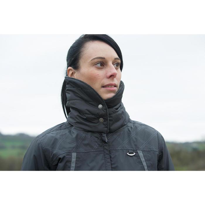 Veste chaude et imperméable femme équitation TOSCA 2 gris foncé/chevron - 1223955