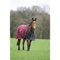 Waterdichte outdoordeken ruitersport pony paard Allweather 300 1000D bordeaux