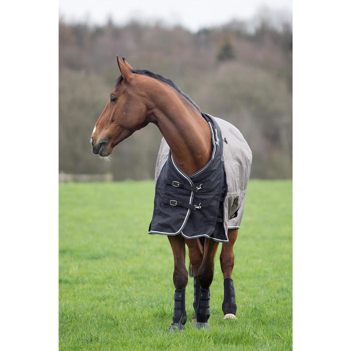 Couverture imperméable équitation cheval et poney ALLWEATHER 300 1000D marron
