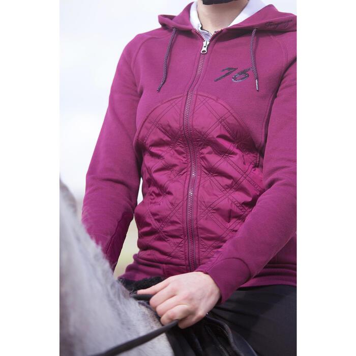 Sudadera equitación mujer PADDOCK Ciruela
