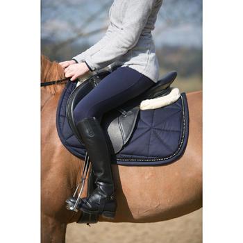 Pantalon chaud équitation femme VICTORIA bleu marine - 1224005