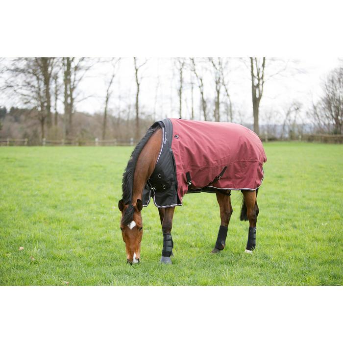 Waterdichte outdoordeken ruitersport paard pony Allweather 300 1000D bordeaux