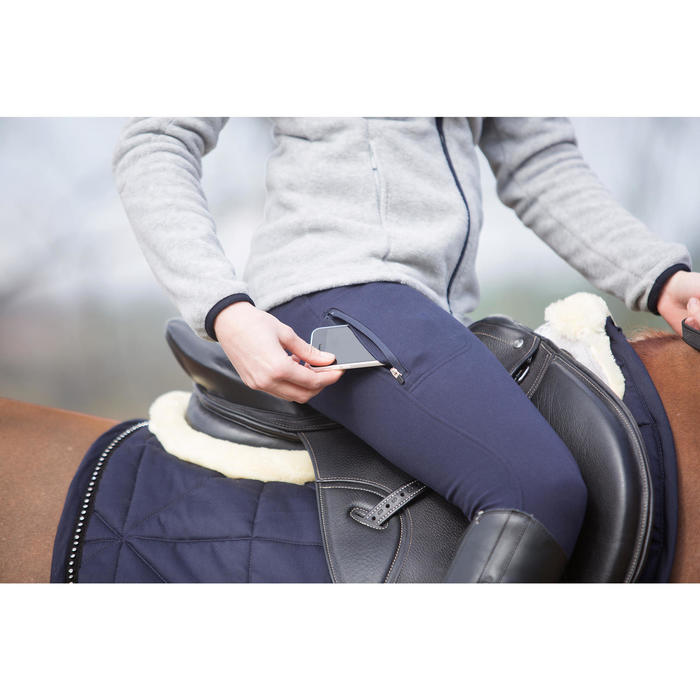 Pantalon chaud équitation femme VICTORIA bleu marine - 1224034
