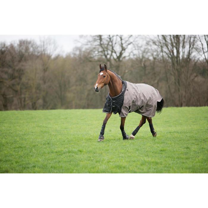 Manta impermeable equitación caballo y poni ALLWEATHER 300 1000D marrón