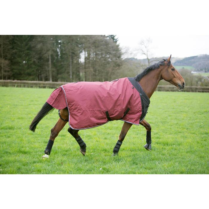 Couverture imperméable équitation cheval et poney ALLWEATHER 300 1000D bordeaux