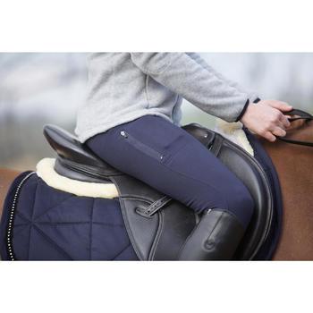 Pantalon chaud équitation femme VICTORIA bleu marine - 1224068