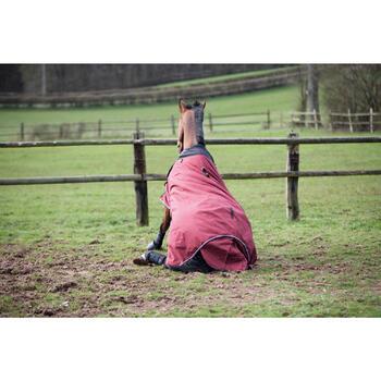 Manta impermeable equitación caballo y poni ALLWEATHER 300 1000D burdeos