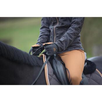 Guantes cálidos de equitación adulto PERF gris/camel