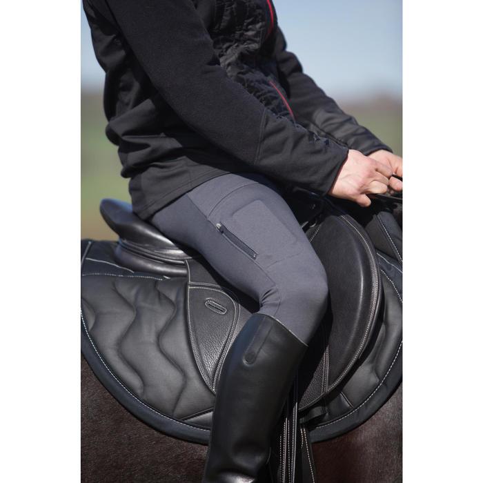 Pantalon chaud équitation homme VICTOR gris foncé - 1224129
