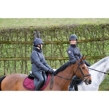 Veste chaude et imperméable femme équitation TOSCA 2 gris foncé/chevron - 1224148