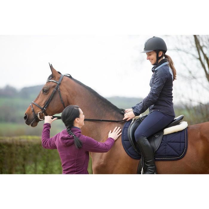 Pantalon chaud équitation femme VICTORIA bleu marine - 1224157