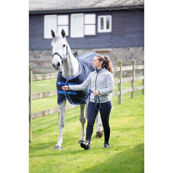 Pantalon chaud équitation femme VICTORIA bleu marine - 1224164