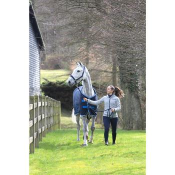 Chemise d'écurie équitation poney et cheval POLAR 500 gris foncé - 1224167