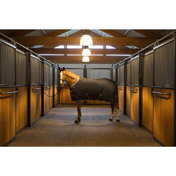 Chemise d'écurie équitation poney et cheval POLAR 500 gris foncé - 1224169