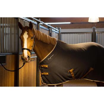Chemise d'écurie équitation poney et cheval POLAR 500 gris foncé - 1224177