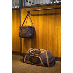 Sac de transport matériel équitation DUFFLE 55 L gris et camel