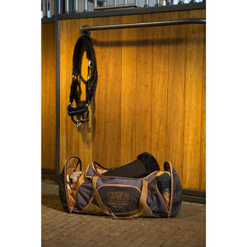 Duffeltas voor ruitersport materiaal 55 l grijs en camel