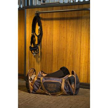 Grote draagtas ruitersport 55 l grijs en camel