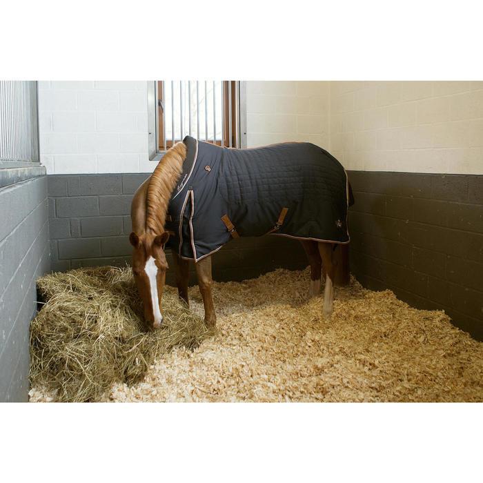Staldeken ruitersport paard en pony ST400 donkergrijs